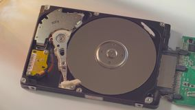 La unidad de disco duro almacen de metraje de vídeo