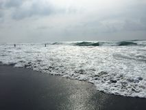 La Union surfing. La Union Surf waves in the Philippines. best waves Royalty Free Stock Photo