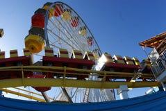 Santa Monica Pier, LA royalty free stock photos