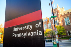 La Universidad de Pensilvania imagenes de archivo