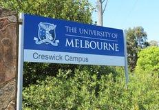 La universidad del campus de Creswick de Melbourne, antes la escuela de la silvicultura, se convirtió en parte de la universidad  Fotos de archivo libres de regalías