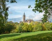 La universidad del edificio de Glasgow Fotos de archivo libres de regalías