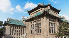 La universidad más hermosa de Wuhan de la universidad Imagen de archivo libre de regalías