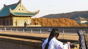 La universidad más hermosa de Wuhan de la universidad Fotos de archivo libres de regalías