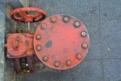 La válvula del abastecimiento de agua Fotos de archivo libres de regalías