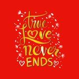 La véritable histoire d'amour ne finit jamais Photographie stock