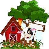 La vaca con en blanco firma adentro el jardín libre illustration