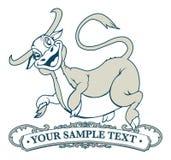 La vaca salta la escritura de la etiqueta Fotos de archivo libres de regalías