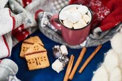 La vacanza invernale attribuisce la tavola Fotografia Stock Libera da Diritti