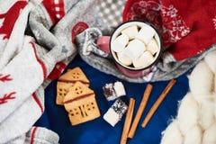 La vacanza invernale attribuisce la tavola Fotografie Stock Libere da Diritti