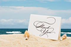 La vacanza lo ringrazia fotografie stock libere da diritti