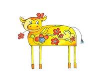 La vache de la fleur illustration libre de droits