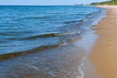 La vague de mer, l'excitation mousse d'eau sur de rivage mer, mer, l'eau bout, littoral photographie stock