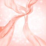 La vague ou la ligne rouge abstraite écoulement au-dessus de l'étoile blanche, neige, étincelle a éclaté le fond Illustration de  illustration stock
