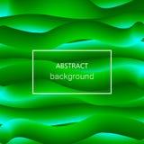 La vague verte abstraite 3d raye le fond Vecteur image libre de droits