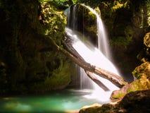 La Vaioaga nel parco nazionale di Cheile Nerei - Romania Fotografia Stock Libera da Diritti