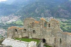 La Val di Susa ha osservato da Sacra di San Michele del Piemonte, Italia fotografia stock libera da diritti