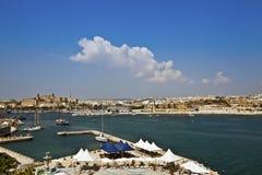 La Valeta en la isla del paisaje urbano de Malta. imagen de archivo