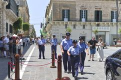 La Valeta, Malta – 11 de julio: Herman Van Rompuy visita Malta Foto de archivo