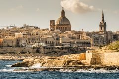 La Valetta, Malta. Landscape of La Valetta in Malta Royalty Free Stock Photography