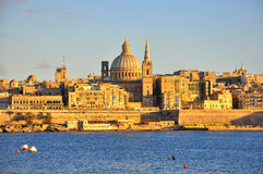 La Valetta, Malta. La Valetta on sunset, Malta Stock Image