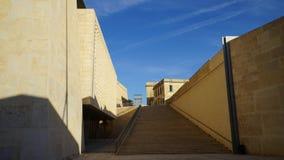 La Valette, Malte - le nouveau Parlement Photos stock