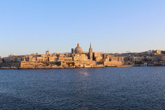 La Valette, vue panoramique, capitale, République de Malte Images libres de droits