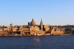 La Valette, vue panoramique, capitale, République de Malte Image libre de droits