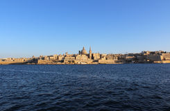 La Valette, vue panoramique, capitale, République de Malte Photographie stock libre de droits