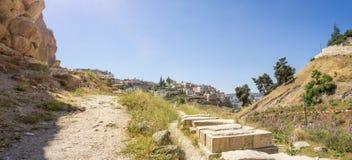 La vallée Cédron à Jérusalem, Israël Image stock