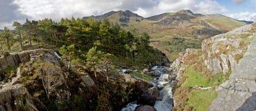 La vallée d'Ogwen Images libres de droits