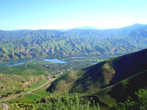 La vallée de la rivière de Vakhsh Photo libre de droits
