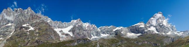 La vallée de Matterhorn Images stock