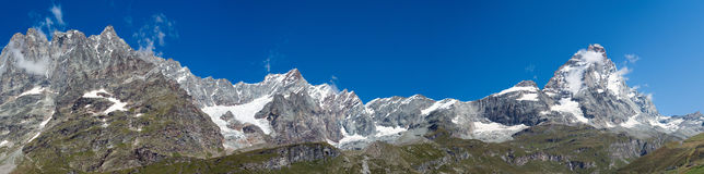 La vallée de Matterhorn Photo libre de droits