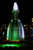 La vallée du lac Abrau Fontaine des bouteilles Image libre de droits