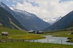 La vallée du mal de Krimmler Photo libre de droits