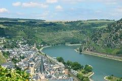 La vallée du Rhin Photographie stock