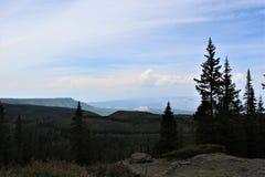 La vallée grande donnent sur placé sur le MESA grand III photographie stock libre de droits