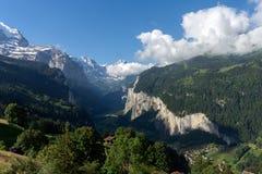 La vallée lauterbrunnen Photographie stock libre de droits