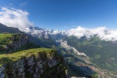 La vallée lauterbrunnen Photo libre de droits
