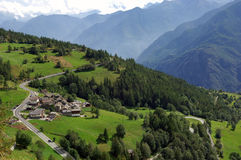 La valle d'Aosta Fotografie Stock