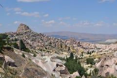 La valle dei piccioni nella regione di Cappadocia Fotografia Stock