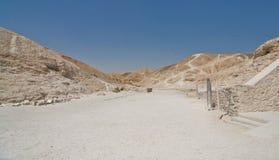 La valle dei re nell'Egitto Fotografia Stock