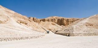 La valle dei re nell'Egitto Fotografie Stock
