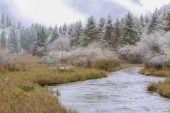 La valle del Jiuzhaigou Sichuan Cina Fotografia Stock Libera da Diritti