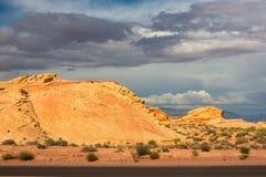 La valle del parco di stato del fuoco, U.S.A. Fotografia Stock Libera da Diritti