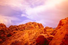 La valle del parco di stato del fuoco, U.S.A. Fotografie Stock Libere da Diritti