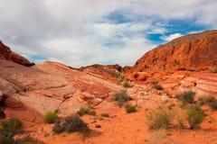 La valle del parco di stato del fuoco, U.S.A. Fotografia Stock