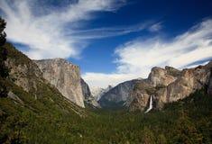 La valle del Yosemite dal traforo trascura Fotografia Stock Libera da Diritti