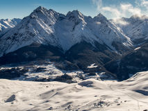 La valle della locanda nell'inverno Fotografia Stock Libera da Diritti